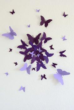 Bastelideen Papier lila dunkel hell