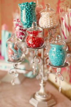 how cute would it be to tie a candelabra into your candy bar as well? candy-abra