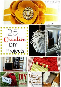 25 Creative Diy Projects... These are so fun!