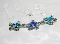 Phyrra's Peacock -  Swarovski Crystal Star Necklace by WhimsyBeading on Etsy, $35.00