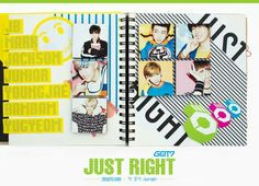 recently released their third 'Just Right' teaser image featuring each of the members as part of a 'scrapbook', but we know you… Yugyeom, Youngjae, Jyp Fans, Just Right Got7, 7th Heaven, Cnblue, Jonghyun, Jinyoung, Teaser