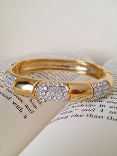 Gold bracelet.