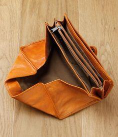 【入荷待ち】カウレザーギャルソン長財布(ブラウン)