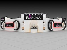 Sarmina fair stand display expo 3d model  Exhibition Stand Design