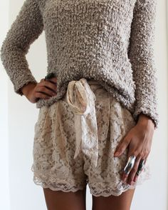 Nothing like casual texture and feminine chic..