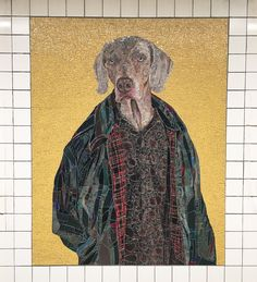 Wegman murals cheer up reopened St F, M station William Wegman, Nyc Subway, Subway Art, Mural Art, Murals, Famous Dogs, Weimaraner, Vizsla, Street Mural