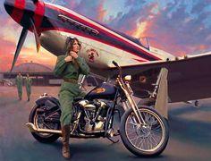 Classic Motorcycle Pin-ups