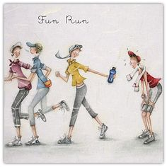 Fun Run , Ladies Who Love Life ... Berni Parker funny cute art  Berni Parker Designs