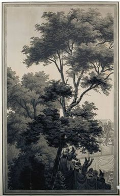 19thc. Zuber Grisaille www.lab333.com https://www.facebook.com/pages/LAB-STYLE/585086788169863 http://www.labs333style.com www.lablikes.tumblr.com www.pinterest.com/labstyle
