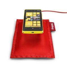 Nokia Fatboy wireless charging pillow for Lumia 920 and Lumia 820