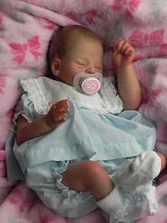 Reborn Baby Girl, Katie, LE, LOW START, NO RESERVE Michelle's Country Cradle