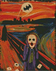 Batman Joker Scream Cross Stitch Pattern - Batman Funny - Funny Batman Meme - - Batman Joker Scream Cross Stitch Pattern The post Batman Joker Scream Cross Stitch Pattern appeared first on Gag Dad. Joker Batman, Joker Art, Funny Batman, Animes Wallpapers, Cute Wallpapers, Le Cri Munch, Arte Pink Floyd, Joker Kunst, Arte Disney