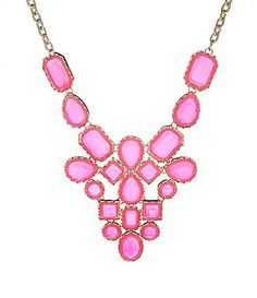 Natasha Mosaic Bib Necklace | Dillards.com