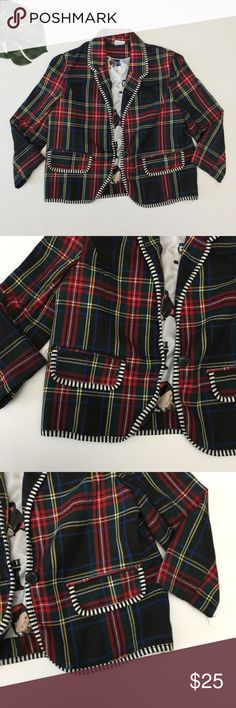 Harajuku Mini Tartan Black Plaid Cropped Blazer Harajuku Mini Girls Tartan Black Plaid Cropped Blazer Jacket Size Large 10-12 From Target collaboration polyester blend  Fun lining !  Size tag has been cut out. Excellent condition with no stains or flaws in fabric.  Matching dress in my store.   Quick shipping! WE SHIP EITHER THE SAME BUSINESS DAY OR NEXT. ORDERS ON WEEKENDS ARE IN MAIL BY MONDAY MORNING. harajuku Mini Jackets & Coats Blazers
