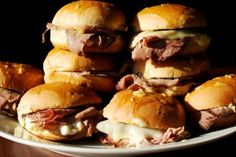 Roast Beef Sliders  Easy dinner idea