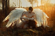 fallen Angel by Irina Dzhul - Photo 164026705 / Male Photography, World Photography, Fantasy Photography, Photography Magazine, Editorial Photography, Photography Ideas, Angel Falls, Angel Aesthetic, Aesthetic Body