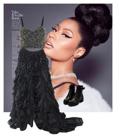 Nicki Minaj by princessaubrii on Polyvore featuring polyvore, beauty, Lace & Beads, Norma Kamali and Nicki Minaj