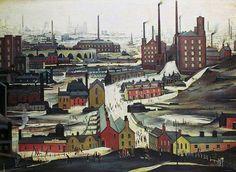 L. S. Lowry, Industrial Landscape (Ashton under Lyne), 1952