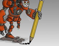 """Check out new work on my @Behance portfolio: """"Pecil Bot"""" http://be.net/gallery/40451157/Pecil-Bot"""