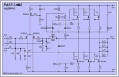 PASS LABS ALEPH-5 - Class-A DIY amplifier schematic & PCB