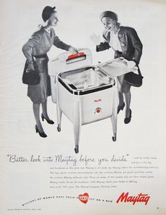 1946 Maytag Washing Machine Vintage Advertisement Laundry Room Wall Art Laundromat Decor Home Decor Original Magazine Print Ad Ephemera by RelicEclectic on Etsy