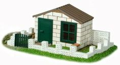 Teifoc White Brick House Construction Set by Teifoc. $39.99. Teifoc bricks are made from high quality natural materials. Made in the Germany. Unique build and play system that uses real reusable clay bricks and dissolvable cement mortar. Just dissolve the cement in water and you can rebuild over and over again!. The whole family has fun with Teifoc, especially the little architects and builders!. From the Manufacturer Build your own white brick h...