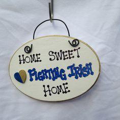 Home Sweet Home- University of Notre Dame Fighting Irish Sign
