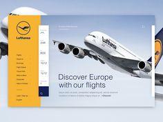 Lufthansa Homepage Concept