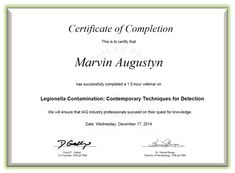 use an existing certificate template or design your own then email it