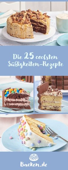 The 25 Coolest Candy Recipes - Whether Toffifee®, Oreo®, Kinderschokolade®, Twix®, KitKat® or other treats – with sweets ca - Oreo Desserts, Birthday Desserts, Plated Desserts, Vegan Desserts, Delicious Desserts, Birthday Cakes, Nutella Cake, Oreo Cake, Kitkat Torte