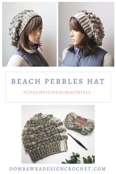 This post includes my Beach Pebbles Hat Pattern. This design was created exclusively for the 2018 Christmas In July CAL event. You can check out all the other patterns, projects and even enter the end-of-cal giveaways by crocheting one of the CAL patterns and sharing the image of your finished project. Learn more right here and remember to grab your free pattern :)     via @OombawkaDesign