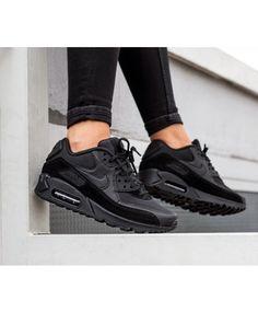 sale retailer 68c8b 88a1c Nike Air Max 90 Trainers In Black