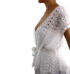 Summer Romance ....Elegant Hand Knitted  Lace Vest by Rumina, $88.00
