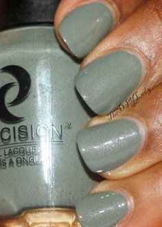 """""""First up is Sage! This is a Dusty green that has a hint or silver shimmer in it. Application was lovely and it was opaque in two easy coats."""""""