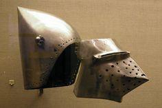 Bascinet and visor: Europe (possibly France), 1390-1400.  Philadelphia Museum of Art.