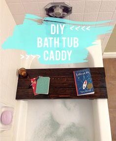 Everyday Simple - DIY Bathtub Caddy
