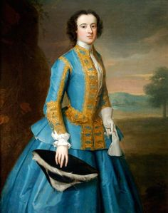 """A Lady in a Riding Habit"", Enoch Seeman the Younger, British Royal court portrait artist ) ca. blue riding habit with gold trim, black tricorn 18th Century Dress, 18th Century Clothing, 18th Century Fashion, 19th Century, Historical Costume, Historical Clothing, Historical Art, Riding Habit, Glamour"
