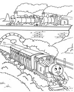 Thomas The Train Colouring Pages Print