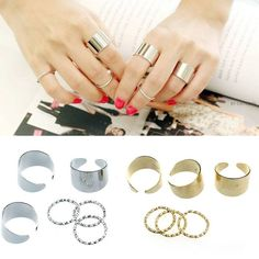 **Sold Out** 6 piece Finger Ring Set $20