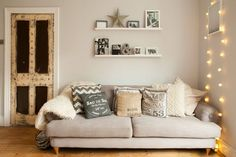 Victorian living room renovation with Scandinavian styling and vintage touches