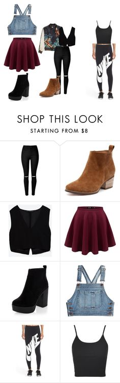 Unbenannt #68 by ahfac on Polyvore featuring Mode, Moschino, Zara, Topshop and NIKE