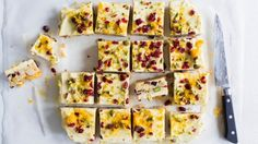 Chelsea Winter's Pink Ribbon recipe: White chocolate and cranberry slice | Stuff.co.nz