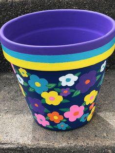 23 Clever DIY Christmas Decoration Ideas By Crafty Panda Flower Pot Art, Flower Pot Design, Clay Flower Pots, Flower Pot Crafts, Clay Pots, Paint Garden Pots, Painted Plant Pots, Painted Flower Pots, Clay Pot Projects