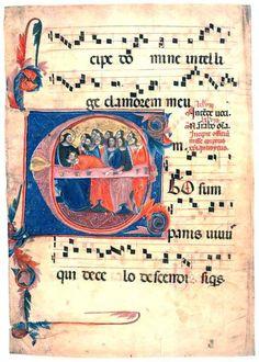 Ego sum Panis vivus, Antifona Gregoriana. Codice XV secolo - Studio di Canto Gregoriano Di Giovanni Vianini