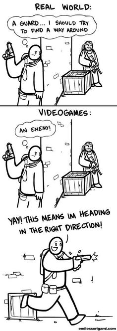 funny video game logic (Click through. There's More!!!)