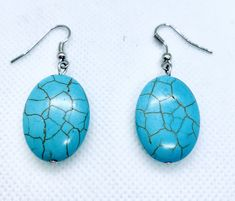 TURQUOISE EARRINGS - CavaWoman Turquoise Earrings, Silver Earrings, Drop Earrings, Game Of Thrones Episodes, Trinity Knot, Silver Pearls, Stone Earrings, Stones And Crystals, Crystal Healing