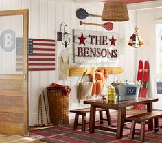 American Flag Wooden Art - beach decor