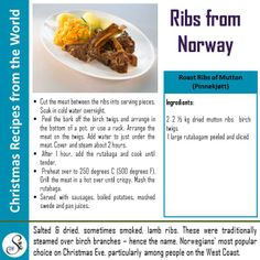 A Recipe from Northern Europe!