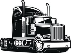 Big Rig Trucks, Semi Trucks, Kenworth Trucks, Peterbilt, Tattoo Project, Truck Design, Silhouette Cameo Projects, Vinyl Projects, Vinyl Crafts
