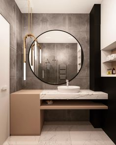 Bathroom Furniture Mirror Interior Design Ideas For 2019 Bathroom Mirror Design, Bathroom Interior Design, Home Interior, Small Bathroom, Master Bathroom, Bathroom Ideas, Bad Inspiration, Bathroom Inspiration, Furniture Inspiration